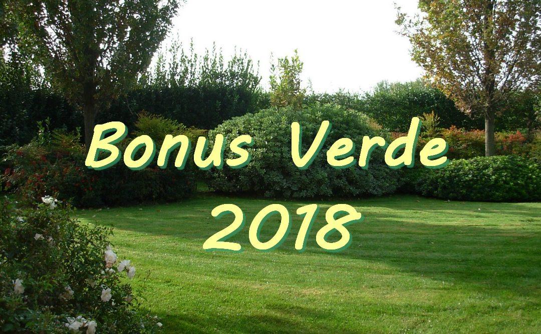 Bonus Verde 2018 – Agevolazioni Fiscali